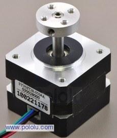 bipolar nema 11 200 adım 28x32 mm 3.8 v step motor -pl-1205 ile 5mm'lik hub kullanımı